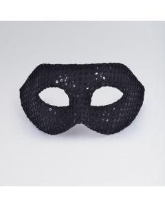 Maschera di Lustrini Metà Viso a Quadretti