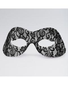 Maschera Domino con Effetto Pizzo