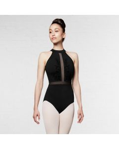 Bloch Vita Body a Collo Alto con Inserti in Mesh e Zip Dietro