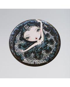 Ballet Papier Specchietto Tascabile - Nero