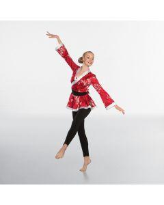 Kimono con Fascia Girovita - Rosso