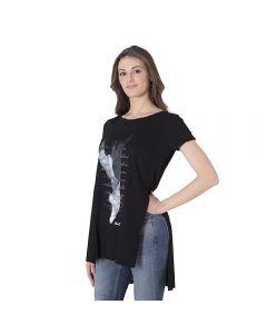 Maglietta Over Size in Tessuto Modal