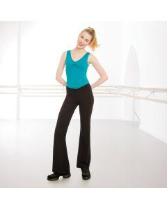 1st Position Essentials Pantaloni Jazz con V Anteriore in Cotone