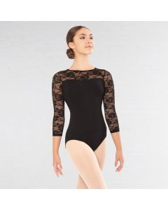 Revolution 3/4 Sleeve Lace Leotard