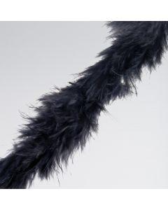 Boa Nero in Piume di Marabù per Decorazioni (2 m)