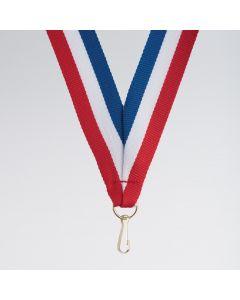 Nastro da medaglia con chiusura clip. Confezione da 10
