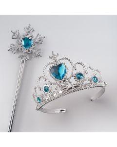 Tiara con Gemme Blu e Bacchetta Fiocco di Neve