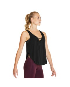 Lace Up V Front Lightweight Tank Top