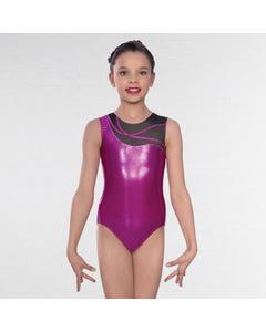 1st Position Kayla Body Asimmetrico in Mesh Senza Maniche