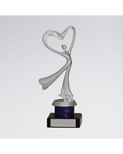 Trofeo Heart Abstract Dance - Argento
